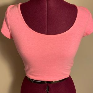 Bright Pink Crop Top